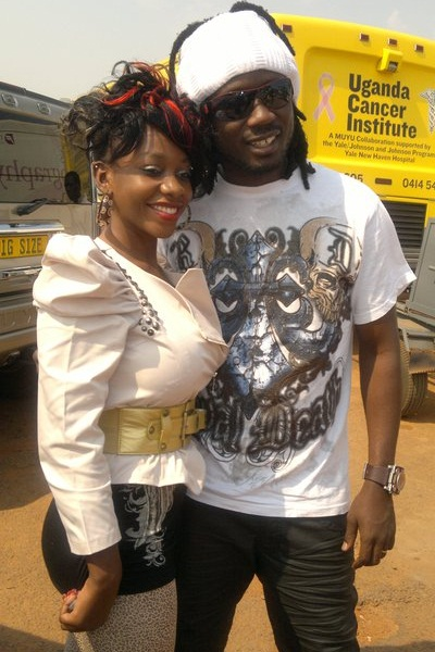Bad Black and Bebe Cool at Mulago Cancer Institute