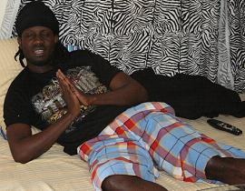 Bebe Cool relaxing and thanking the lord for having survived the Jan 30 shooting