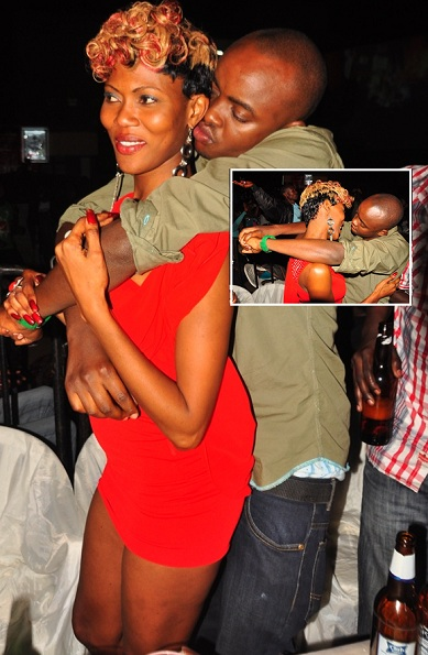 A couple at the Eddie Kenzo album launch