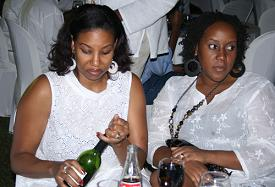 Sanyu FM Evening Drive Presenter(Wine Bottle) and Friend