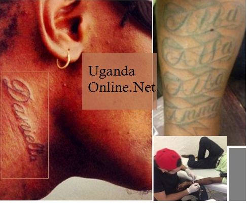 Chameleone showing off his new tats