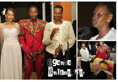 Daniella, Jose Chameleone and the First Lady Mrs Janet Kataha Museveni