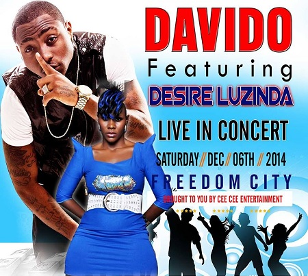 Desire Luzinda to perform alongside Davido