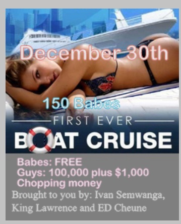 The first ever boat cruise in Kampala