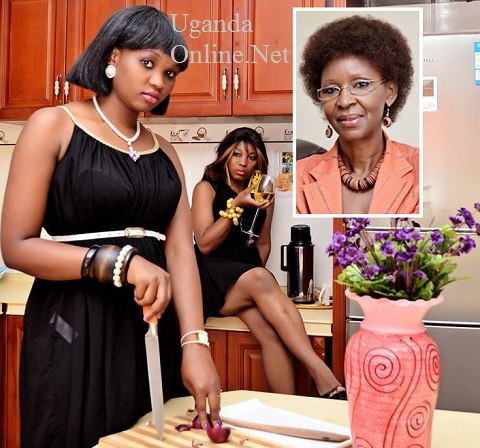 Monica and Lillian and inset is Nalweyiso