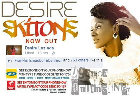 Desire's Ekitone song is out in stores near you