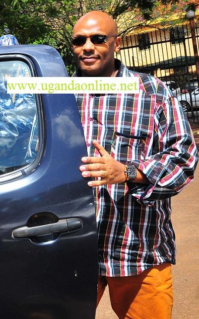 Desh Kananura arriving at the court premises