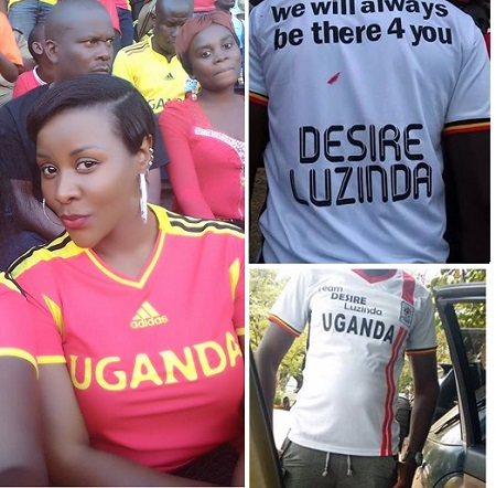 Desire watched the previous game but this one, she was represented by fans