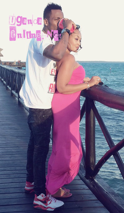 Diamon Platnumz and Zari at a beach in TZ