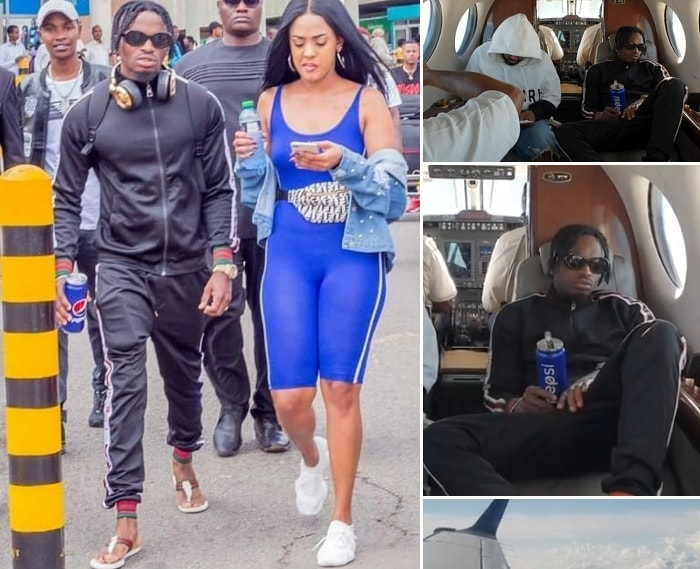 Tight program it is - He took a private plane to Kenya where he has a performance not forgetting that he has to spend some quality time with his beau