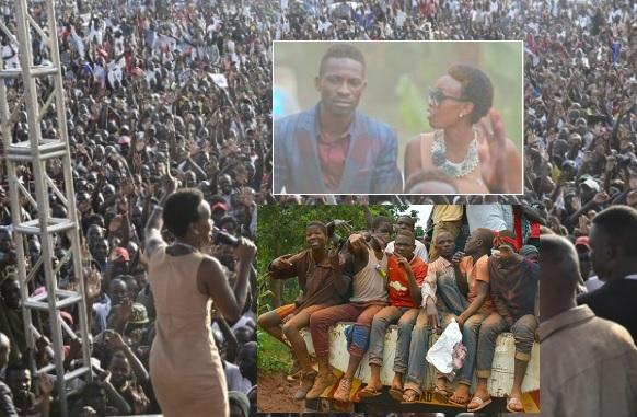 Barbie Kyagulanyi addressing voters