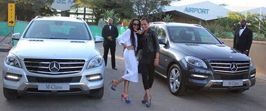 Botswana's representatives Edith and Eve who were evicted last Sunday