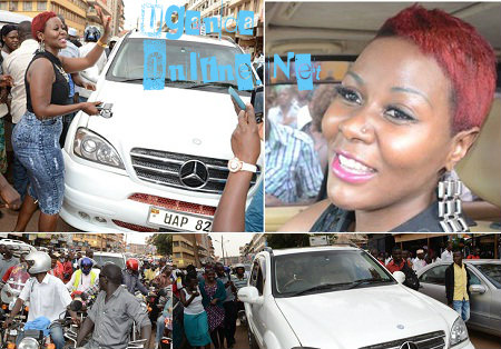 Desuire Luzinda mobbed by fans