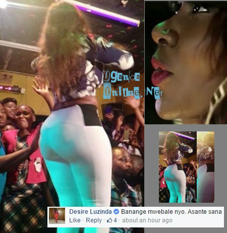 Desire Luzinda's first performance after the photo scandal