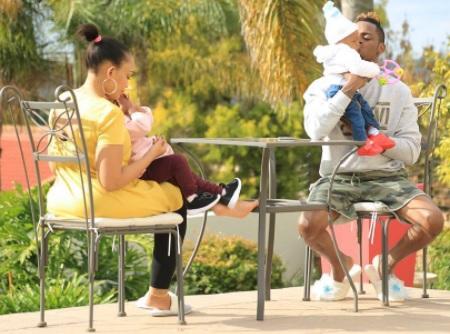 Bondig time - Zari, Platnumz and their two children