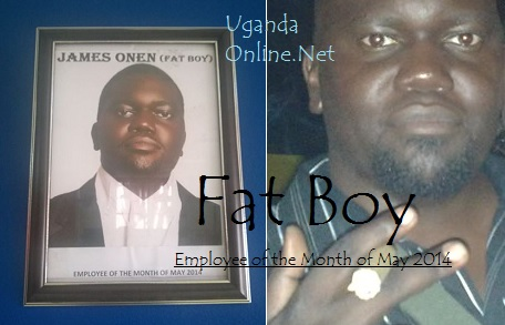 Fat Boy is the May 2014 employee of the month at Sanyu FM