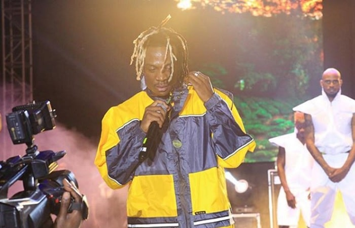 Fik Fameica sharing his musical journey with his fans at Kyadondo Rugby Grounds