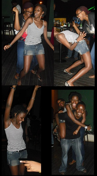 Lauryn Partying with friends in Malaysia