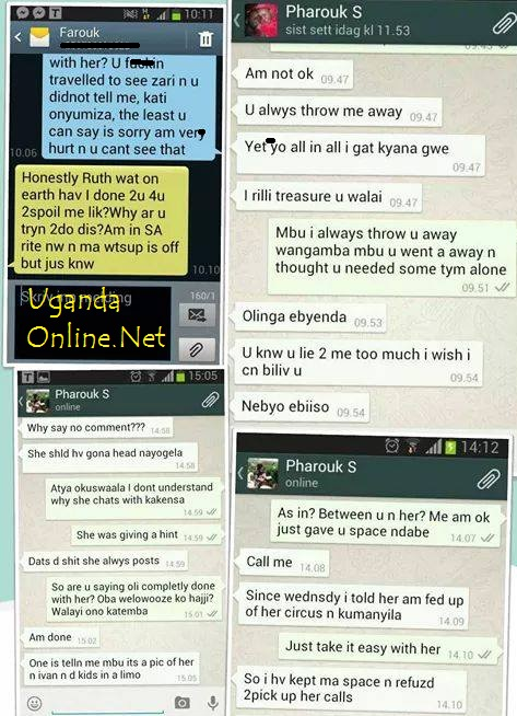 The Whatsapp messages that caused Farouk problems