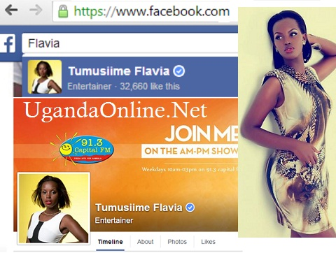 Flavia's facebook page verified
