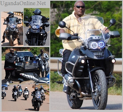 Desh Kananura and other bikers enroute to Fortportal