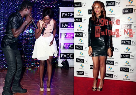 Bobi Wine and Cindy perform as Daniella strikes a pose