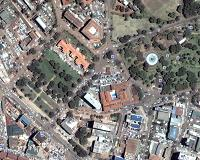 Aerial View of Kampala city as seen from Google Earth