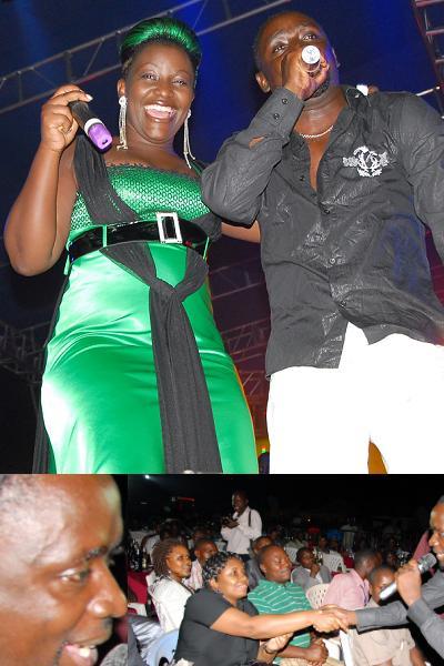 Geoffrey Lutaaya and wife at Hotel Africana