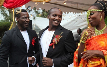 Golola, Patrick Kanyomozi and Rahma Kanyomozi during their introdcution ceremony