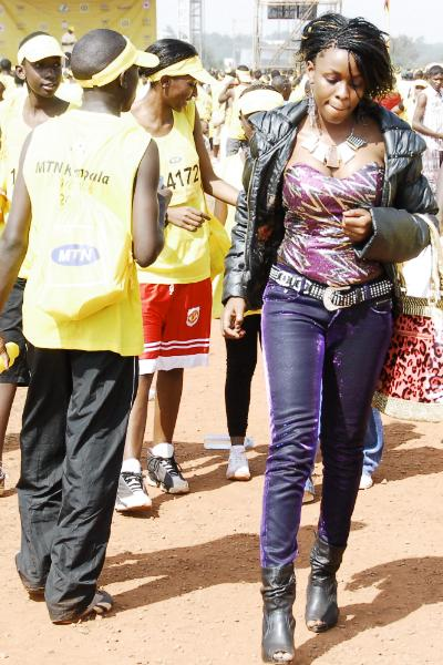 Grace Nakimera at the MTN 2010 Marathon
