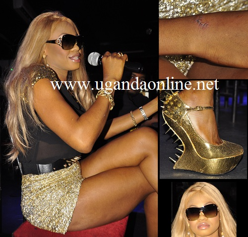 The Late Goldie Harvey during her last visit to Kampala in December 2012.