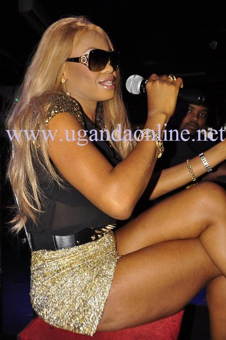 Goldie on her last visit to Kampala in December 2012