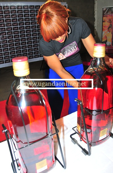 There was a lot to drink at the Zari Jwel Launch party