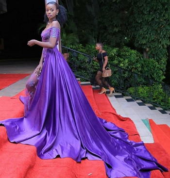 Hellen lukoma looked stunning in the purple outfit