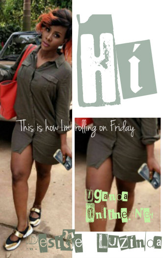 Desire Luzinda showing off her Friday handle