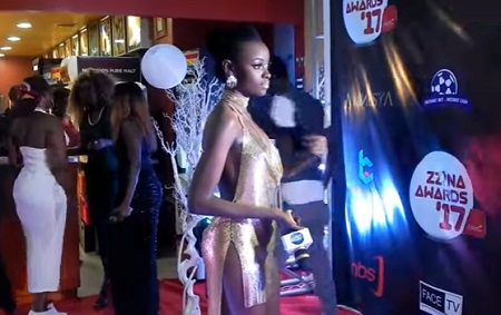 Helen Lukoma at the Zzina awards