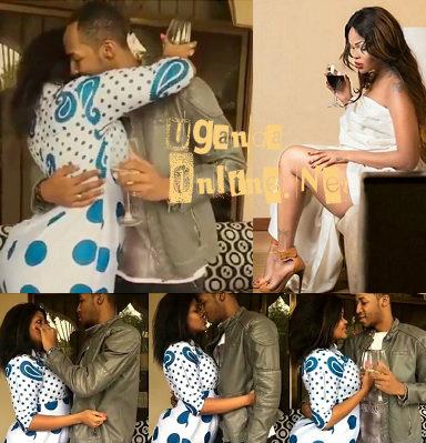 Wema giving Idris a birthday kiss