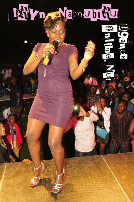 Iryn entertaining fans in Kampala recently