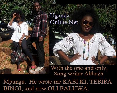 Iryn and her song writer, Abbey Mpungu