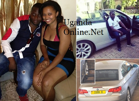 Ivan and his babe and inset is the BMW he gave her as a 'gift'
