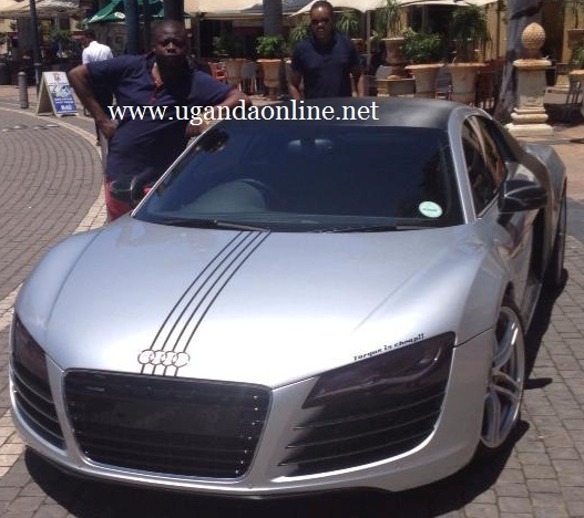 Ivan leans on his Audi R8 which he says is a weekend ride