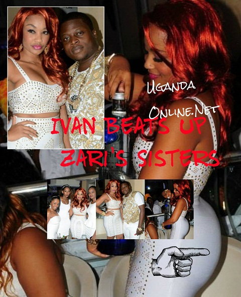 Ivan, Zari together with her sisters at Guvnor during the white party