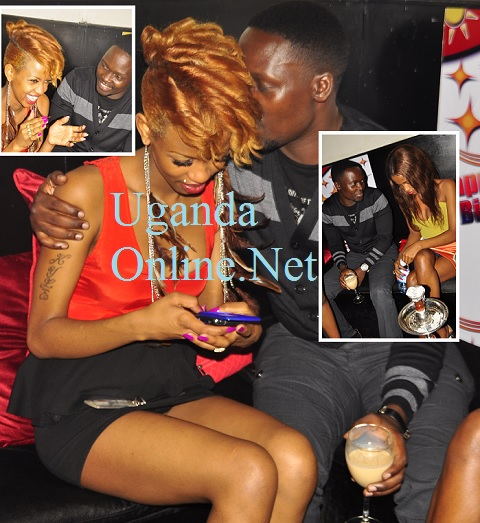 Ronnie Mulindwa and a bevy of babes at Club Rouge recently