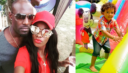 Maurice Kirya and Helen Lukoma enjoying each other's company