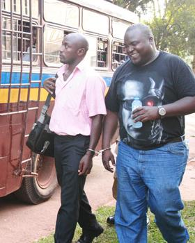 Jamwa boarding the bus to Luzira Prison