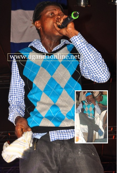 Jose Chameleone performing at the Equatorial Parking
