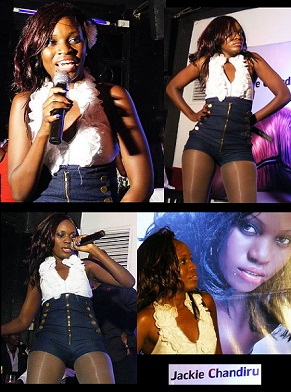 Jackie Chandiru did some of her old Blu3 songs plus her latest singles like Shamim and Agassi