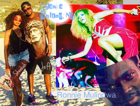 Sheebah and Jeff Kiwa and inset is Ronnie Mulindwa