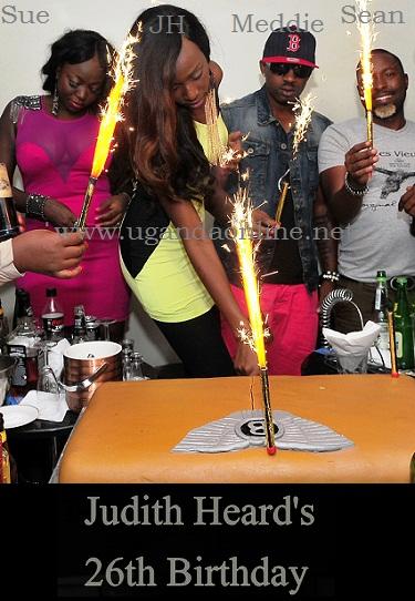 Judith Heard Cuts her cake to mark 26 years!!!!