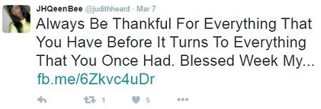 Judith Heard's twitter account has over 13,000 followers